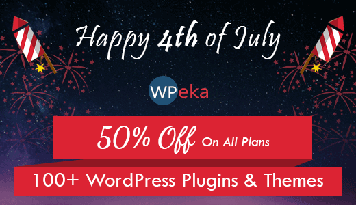 Offer for 4th July – Avail 50% off on WPeka Club's WordPress Products